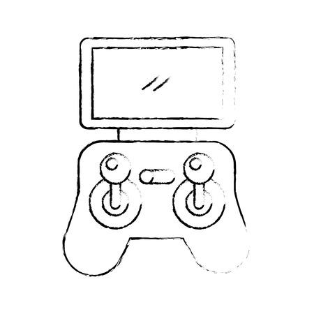 Illustration vectorielle de télécommande écran drone technologie Banque d'images - 89887333