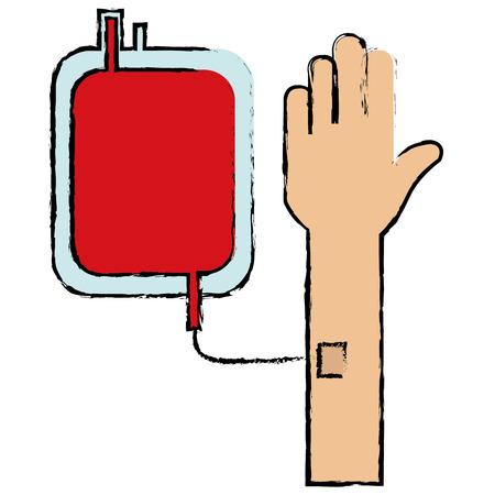 혈액 가방 격리 된 아이콘 벡터 일러스트 디자인