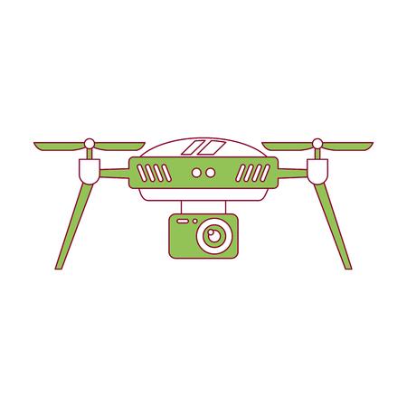 Drone antena câmera remoto hélice dispositivo ilustração vetorial Foto de archivo - 89887360