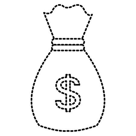 돈 가방 격리 된 아이콘 벡터 일러스트 레이 션 디자인