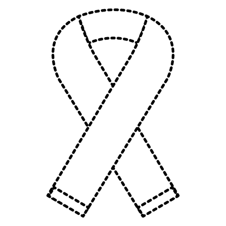 ピンクリボン運動分離のアイコン ベクトル イラスト デザイン