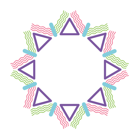 round background with different geometric figures theme abstract Zdjęcie Seryjne - 89887250