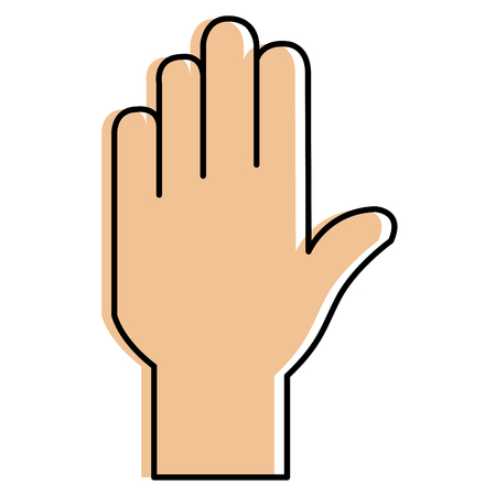 hand stop isolated icon vector illustration design