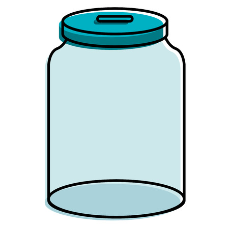 glass jar isolated icon vector illustration design Stock fotó - 89887593