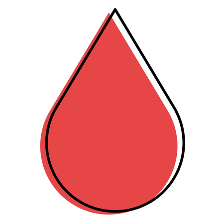 drop blood isolated icon vector illustration design