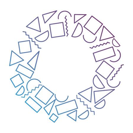 異なる幾何学図形テーマ抽象的な円形の背景  イラスト・ベクター素材