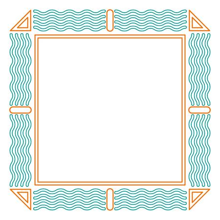 geometric frame square decoration template design vector illustration