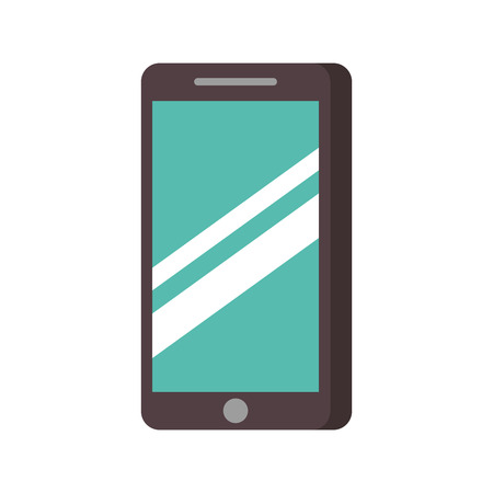 smartphone device technology digital touchscreen vector illustration