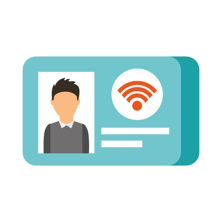 id card photo online wifi shop vector illustration