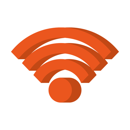 wifi internet signal online market symbol vector illustration Иллюстрация