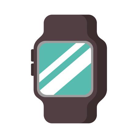 スマートな腕時計デバイス技術ワイヤレス ベクトル図