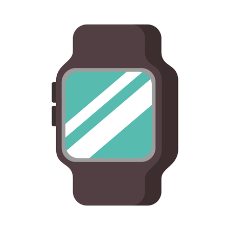 Drahtlose Vektorillustration der intelligenten Uhrgerätetechnologie Standard-Bild - 89887703