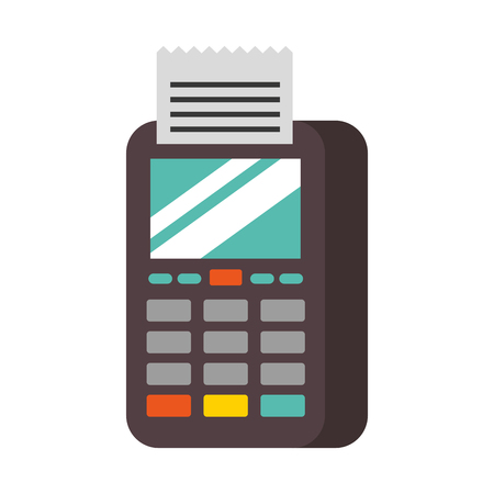 dataphone transaction payment shop online icon vector illustration 向量圖像