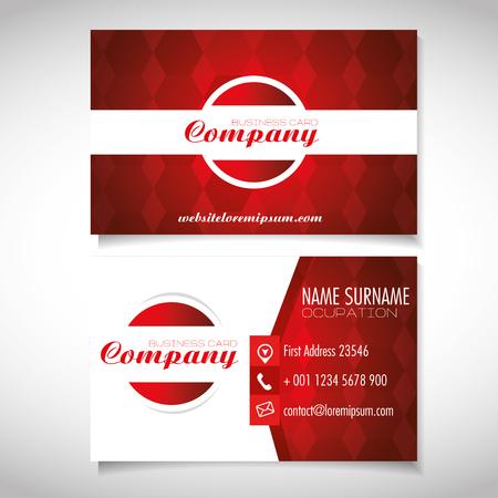 creative corporate business card templates vector illustration graphic design  Illustration