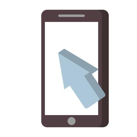 携帯電話支払いオンライン矢印カーソル技術ベクトル図  イラスト・ベクター素材
