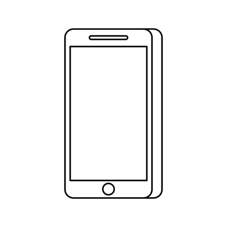 smartphone device technology digital wireless vector illustration