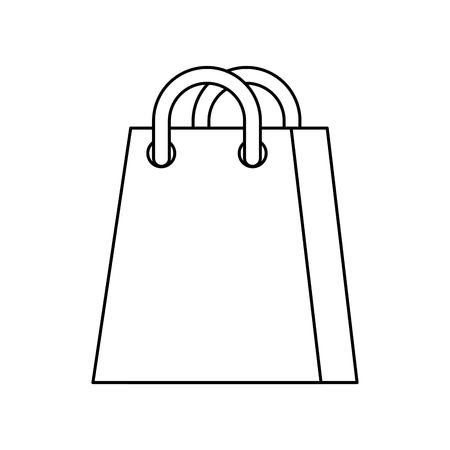 shopping bag ecommerce marketing online app vector illustration Ilustração
