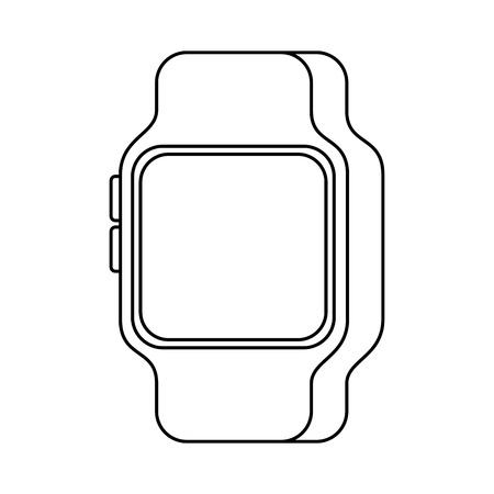 Drahtlose Vektorillustration der intelligenten Uhrgerätetechnologie Standard-Bild - 89887795