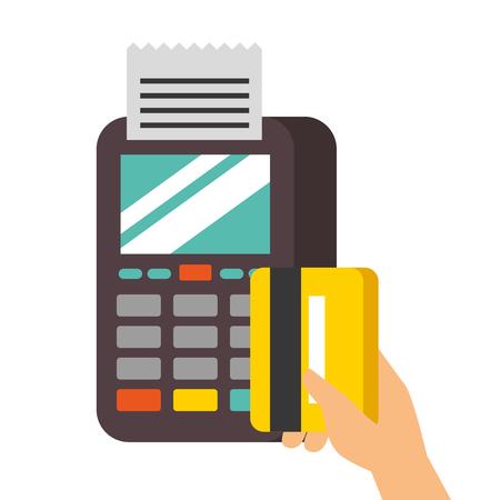 お支払いオンライン dataphone 手クレジット カード市場のベクトル図