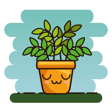 cute lovely house plants cartoons vector illustration graphic design