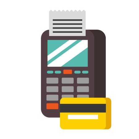 payment online dataphone credit card bank digital vector illustration Ilustração