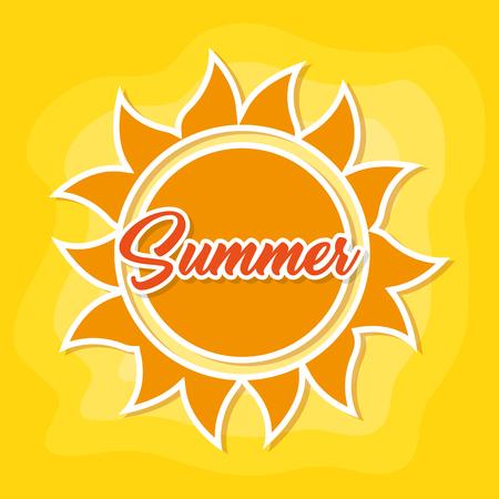 shinny sun hand drawn cartoon vector illustration graphic design