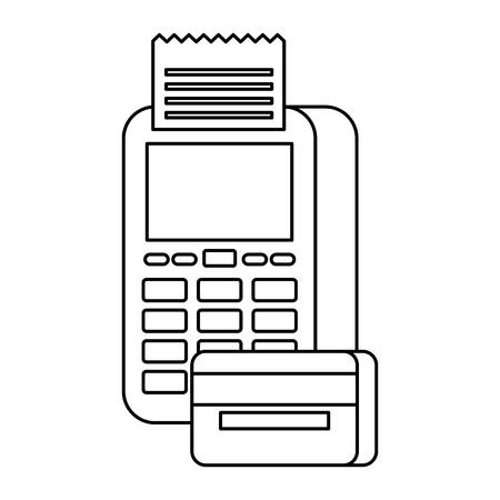 payment online dataphone credit card bank digital vector illustration Reklamní fotografie - 89888751