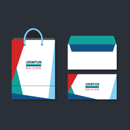 business printed advertising items vector illustration design