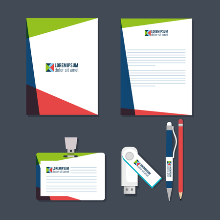 business printed advertising items vector illustration design Reklamní fotografie - 89903694