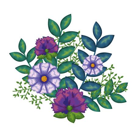 beautiful decoration floral icon vector illustration design Çizim