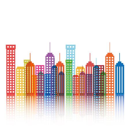 cityscape buildings silhouette icon vector illustration design Illustration