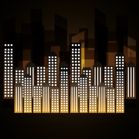 city scene at night vector illustration design Ilustração