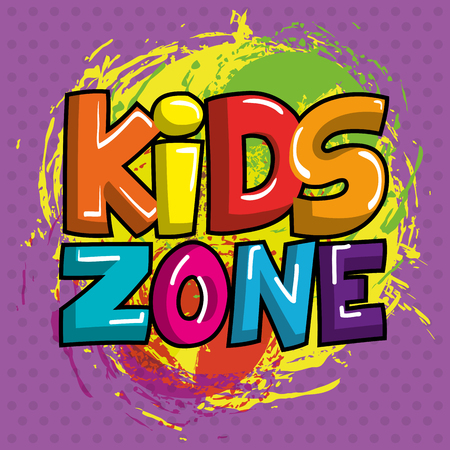 Kids zone poster icon vector illustration design. Illusztráció