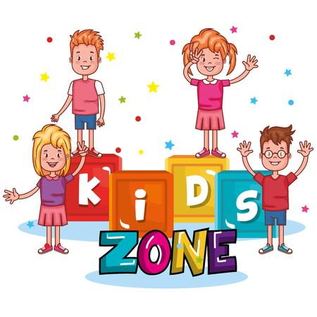 Enfants zone affiche icône vector illustration design. Banque d'images - 89914203