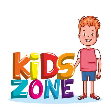 Kids zone poster icon vector illustration design. Illustration
