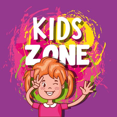 kids zone poster icon vector illustration design  イラスト・ベクター素材