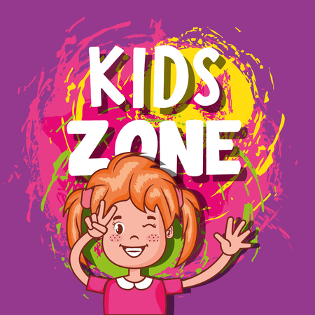 kids zone poster icon vector illustration design Çizim