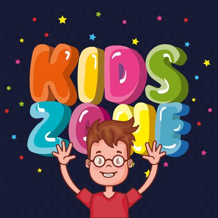 kinderen zone poster pictogram vector illustratie ontwerp