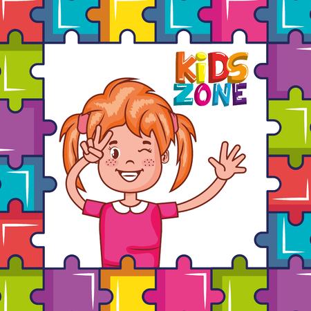 kids zone poster icon vector illustration design Stockfoto
