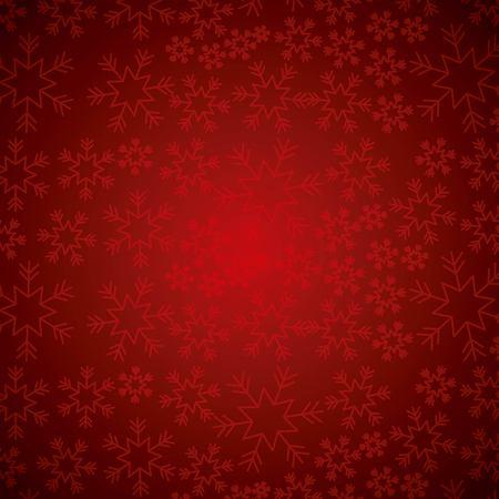Rode elegante Kerstmisachtergrond met sneeuwvlokken abstracte vectorillustratie