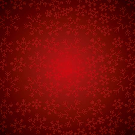 Red elegant Christmas background with snowflakes abstract vector illustration Vettoriali