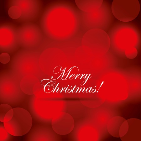 merry christmas poster greeting red blurred background vector illustration Çizim