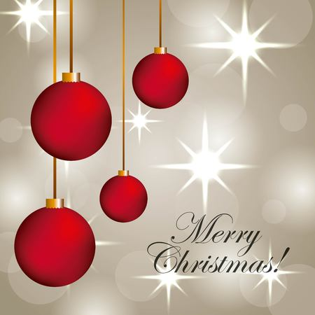Merry Christmas elegant glowing blur for greetings card vector illustration Ilustrace