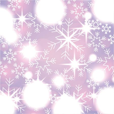 elegant christmas background with snowflakes abstract lights vector illustration
