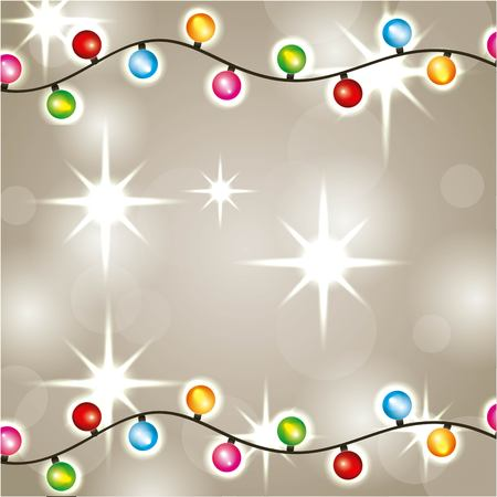 Christmas lights luminous garland glowing decoration vector illustration Stock Vector - 89982845