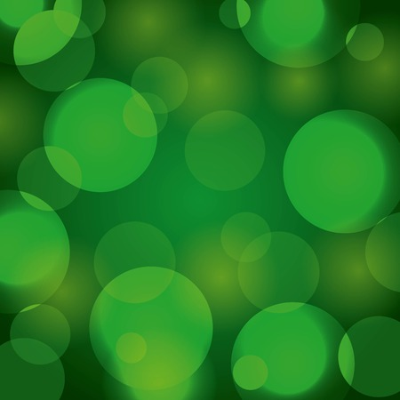 Elegant Christmas background with green abstract lights vector illustration