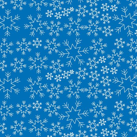 Elegant Christmas background with snowflakes decoration vector illustration