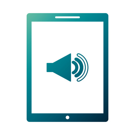 Device technology tablet computer sound volume button vector illustration Фото со стока - 89982859