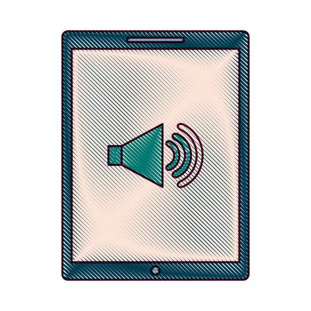 Device technology tablet computer sound volume button vector illustration Illustration
