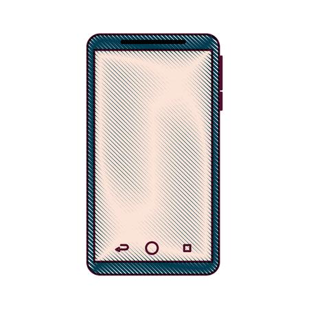 휴대 전화 가제트 기술 터치 스크린 벡터 일러스트 레이션